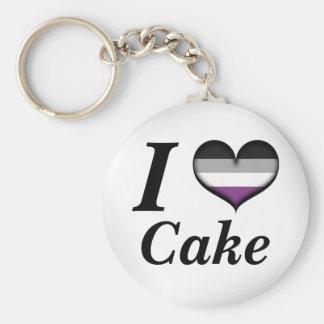 Porte-clés I gâteau asexuel de coeur