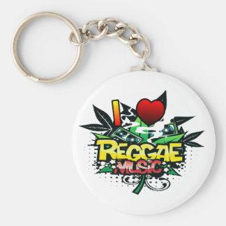 Porte-clés I musique de reggae de coeur