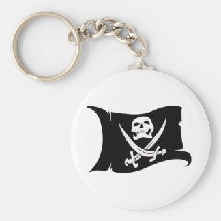 Porte-clés Icône de ondulation #10 de Drapeau-Pirate