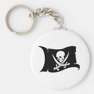 Porte-clés Icône de ondulation #7 de Drapeau-Pirate