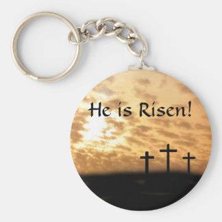 Porte-clés Il est levé ! Trois croix et porte - clés de