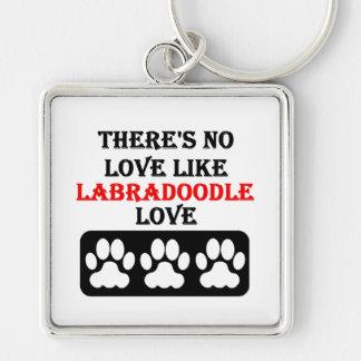 Porte-clés Il n'y a aucun amour comme l'amour de Labradoodle