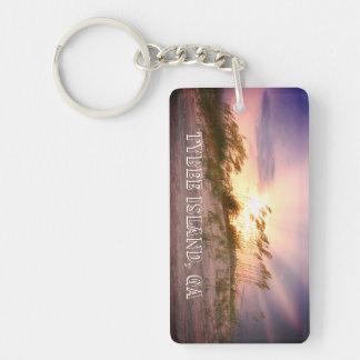 Porte-clés Île de Tybee, coucher du soleil de GA
