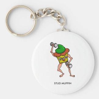 Porte-clés Illustration drôle géante douce de petit pain de