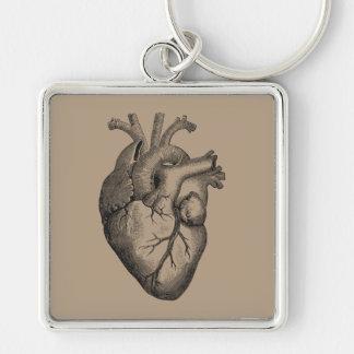 Porte-clés Illustration vintage de coeur