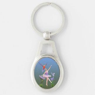 Porte-clés Imaginaire de ballet, fleurs, perroquet, papillon