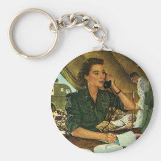 Porte-clés Infirmière patriote et médicale vintage au