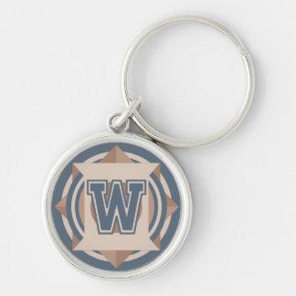 Porte-clés Initiale de la lettre W