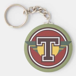 """Porte-clés Initiale faite sur commande de la lettre """"T"""" de"""