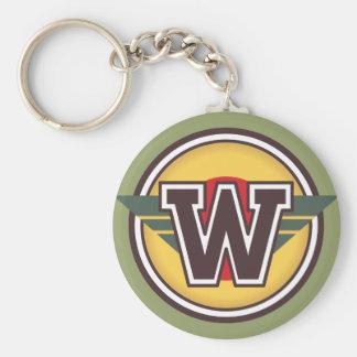 Porte-clés Initiale faite sur commande de la lettre W de