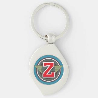 """Porte-clés Initiale faite sur commande """"Z """" de monogramme"""