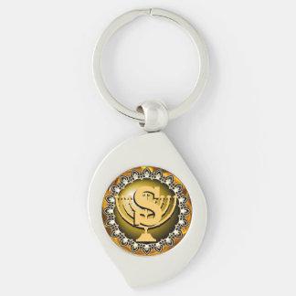Porte-clés Initiales Menorah