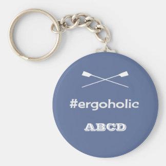 Porte-clés Initiales personnalisées par slogan de hashtag