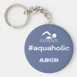 Porte-clés Initiales personnalisées par slogan de natation