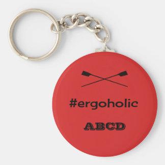Porte-clés Initiales personnalisées par slogan ergoholic
