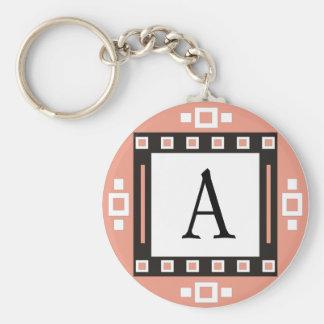 Porte - clés initiaux porte-clé rond