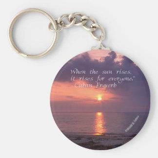 Porte-clés Inspiration - porte - clé de lever de soleil de