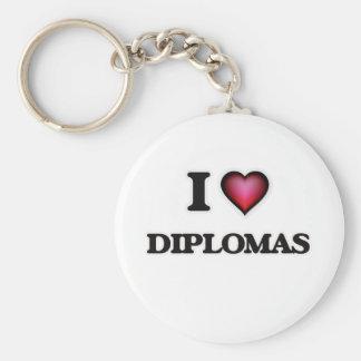 Porte-clés J'aime des diplômes