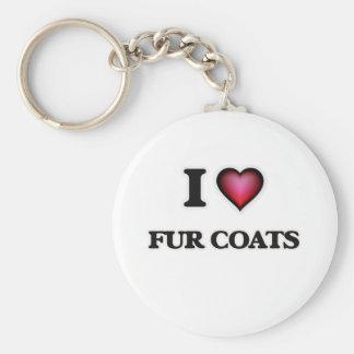 Porte-clés J'aime des manteaux de fourrure