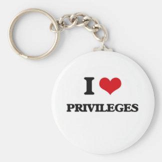Porte-clés J'aime des privilèges