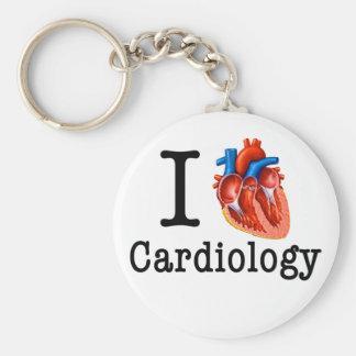 Porte-clés J'aime la cardiologie