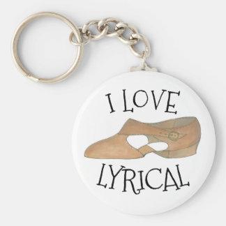 Porte-clés J'aime la chaussure bronzage lyrique de professeur