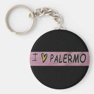 Porte-clés J'aime la conception de Palerme