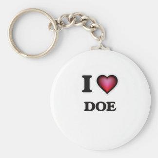 Porte-clés J'aime la daine