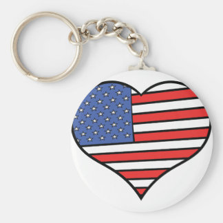 Porte-clés J'aime la fierté de l'Amérique - des Etats-Unis