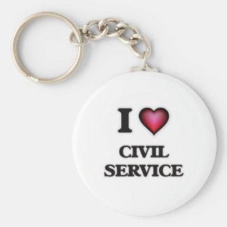 Porte-clés J'aime la fonction publique
