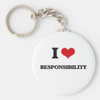 Porte-clés J'aime la responsabilité