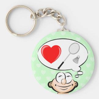 Porte-clés J'aime le badminton