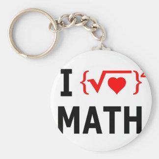 Porte-clés J'aime le blanc de maths
