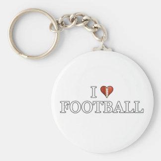 Porte-clés J'aime le football