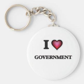 Porte-clés J'aime le gouvernement