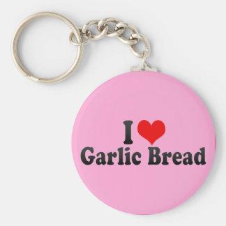 Porte-clés J'aime le pain à l'ail