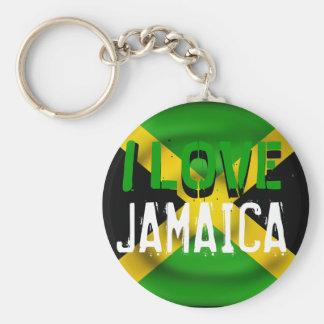 Porte-clés J'aime le porte - clé de la Jamaïque