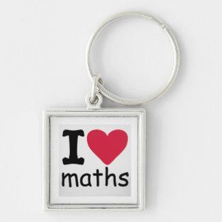 Porte-clés J'aime le porte - clé de maths