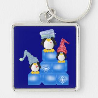 Porte-clés J'aime le porte - clé des pingouins 2