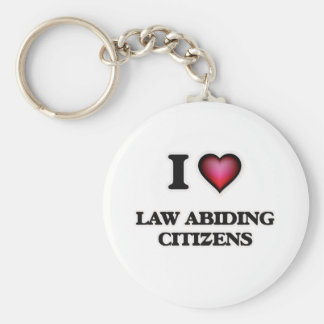 Porte-clés J'aime les citoyens respectueux des lois