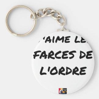 Porte-clés J'aime les FARCES de l'ordre - Jeux de Mots