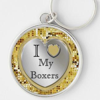 Porte-clés J'aime mes boxeurs ou ? Porte - clé de coeur
