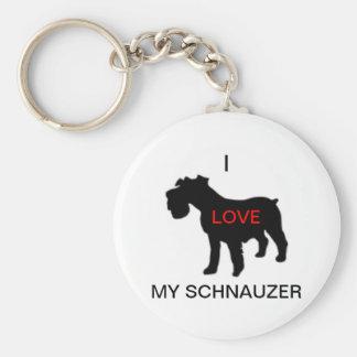 Porte-clés j'aime mon porte - clé de schnauzer