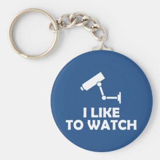 Porte-clés J'aime observer l'enregistrement de caméra vidéo