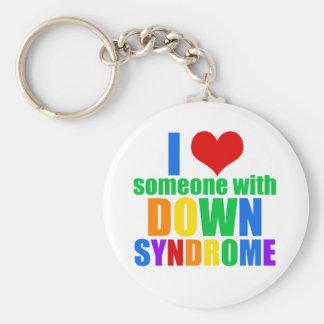 Porte-clés J'aime quelqu'un avec syndrome de Down