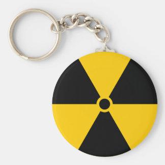 Porte-clés Jaune radioactif et noir de réacteur nucléaire