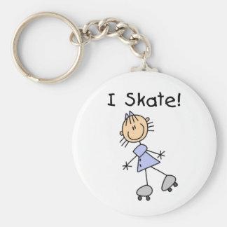 Porte-clés Je patine patineur de rouleau de fille