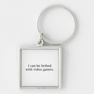 Porte-clés Je peux être suborné avec des jeux vidéo
