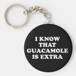 Porte-clés Je sais que le guacamole est supplémentaire