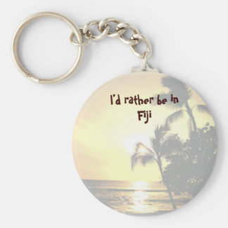 Porte-clés Je serais plutôt en île tropicale